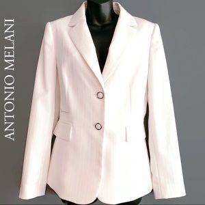 NWT Antonio Melani White Lined Blazer Gorgeous!
